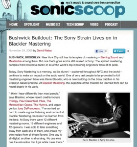 Sonicscoop Kevin Blackler Article